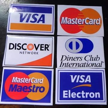 Pacote De Cartões Visa Master Diners Discover 6 unidades