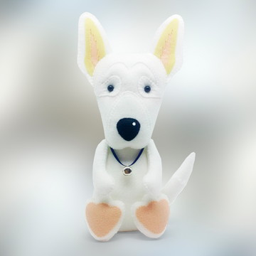 Cachorro Pastor Suiço Branco ou Alemão grande em Feltro
