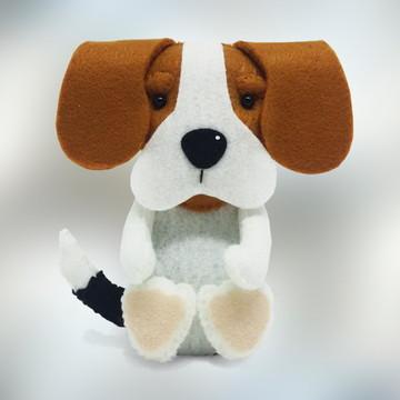 Cachorro Beagle grande em Feltro