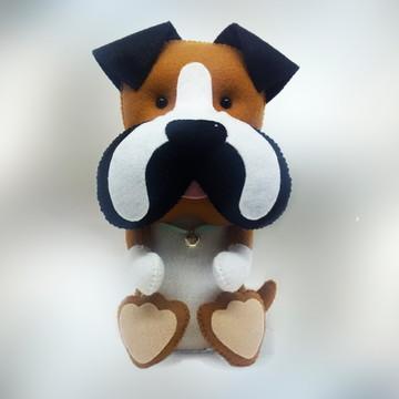 Cachorro Boxer em Feltro