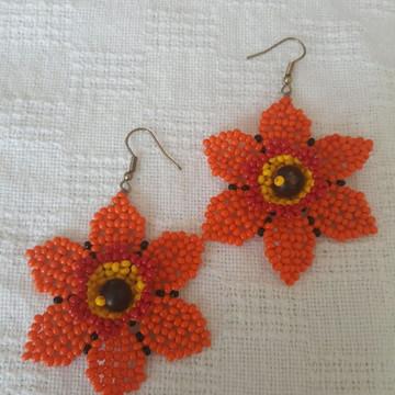 Brincos flores 3D