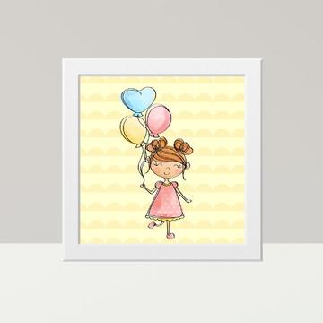 Menininha - Quadro decorativo quarto Infantil