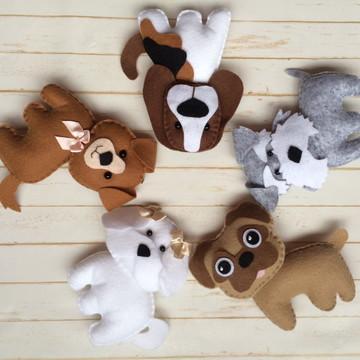 Cachorrinhos Lembrancinhas 10 cm.