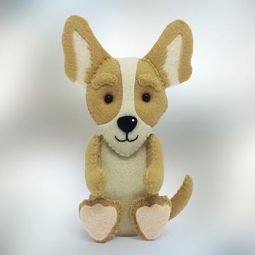 Cachorro Chihuahua grande em Feltro