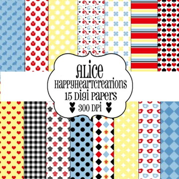 Papel digital - Alice Designer
