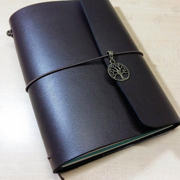 Caderno estilo Midori - com aba