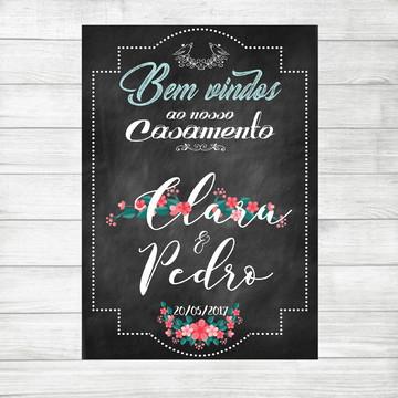 Chalkboard Casamento Digital