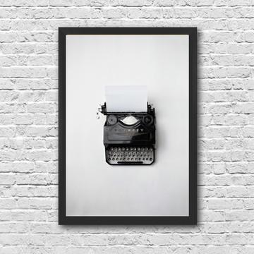 Poster Máquina de escrever Vintage com moldura