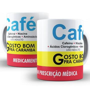 Caneca Engraçada Remédio Café