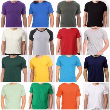 904936d7fa Kit 10 Camisetas 100% Algodão Sem Estampa Fio 30.1 Atacado