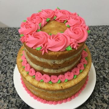 Bolo | Naked Cake | Flores Buttercream