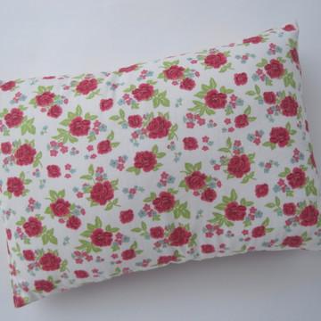 Travesseiro Calmante com Macela estampa flor vermelha