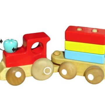 Trenzinho, brinquedo de madeira