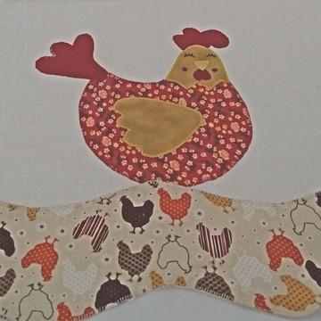 Pano de prato galinha sonhadora