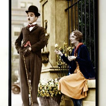 Quadro Charles Chaplin Luzes da Cidade (colorido)