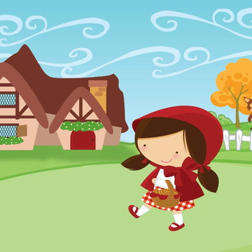 Painel de Festa Chapeuzinho Vermelho 3