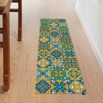 Passadeira Decorativa 145x40cm Azulejo Marrocos
