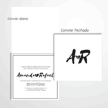 Convite moderno de casamento A4 - arte digital