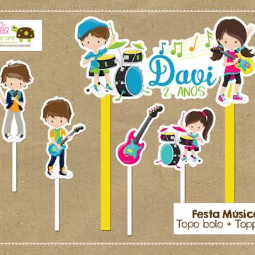 Topo bolo Festa Música