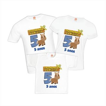 Camisetas de Aniversário Fazendinha