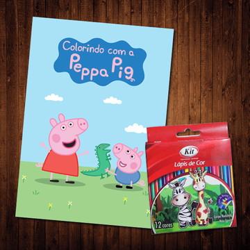 Livro de Colorir / Peppa Pig (Lápis de Cor)