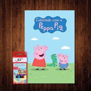 Livro de Colorir / Peppa Pig (Giz de Cera)