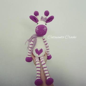 Girafa do Coração Amigurumi