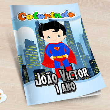 Revista colorir Super Man Cute