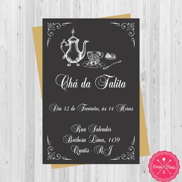Convite Chá de Casa Nova, Cozinha, Panela