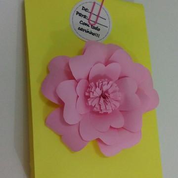 Sacola lembrancinha flor de papel
