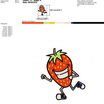 Matriz de Bordado Alimentos Divertidos - Morango (02un)