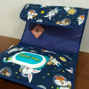 Porta lenço umedecido - Astronautas
