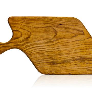 Tábua de corte em madeira maciça - Jatobá - Modelo Parmesão