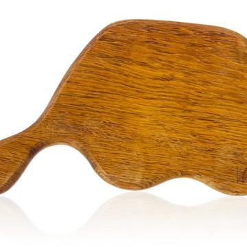 Tábua de corte em madeira maciça -Jatobá- Modelo Gorgonzola