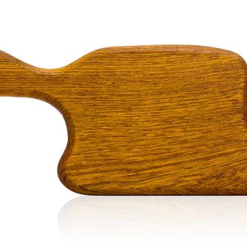 Tábua de corte em madeira maciça - Jatobá - Modelo Camembert