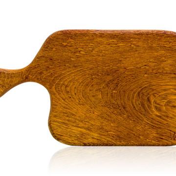 Tábua de corte em madeira maciça - Jatobá - Modelo Grana