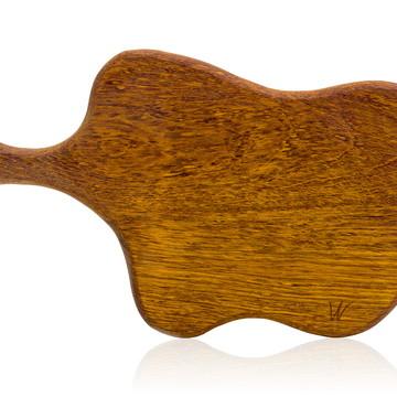 Tábua de corte em madeira maciça - Jatobá - Modelo Gouda