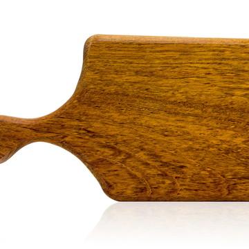 Tábua de corte em madeira maciça - Jatobá - Modelo Roquefort