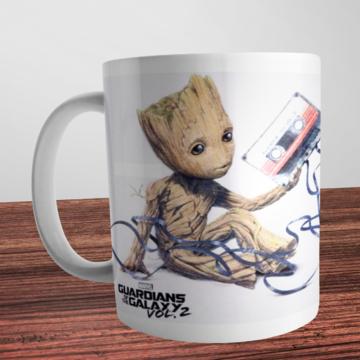 Caneca Groot Guardiões da Galaxia