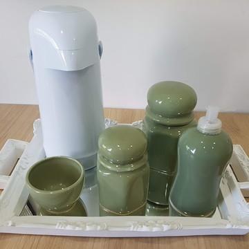 Kit Higiene Verde 6 peças