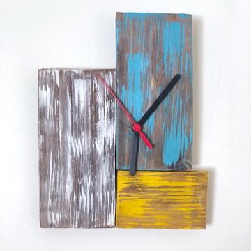 Relógio de Parede Rústico em Pátina