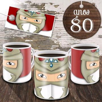 Caneca Anos 80 - Ninja Jiraya
