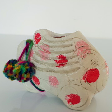Peixe Vaso Suculentas Colorido Decorativo