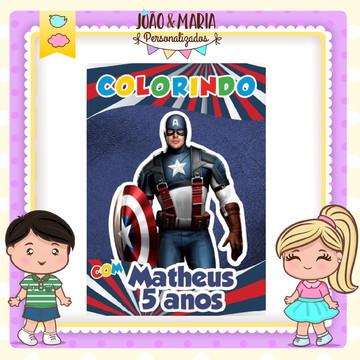 Revistinha de colorir Capitão América