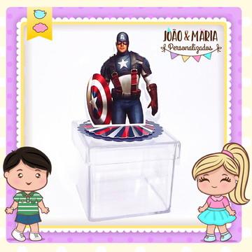 Caixa acrílica Capitão América