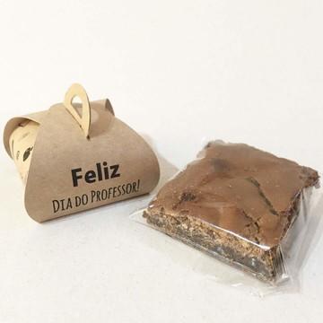 Caixinha Mini Brownie Kraft - 'Dia do Professor II'