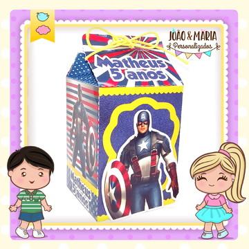 Caixa milk Capitão América
