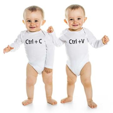 Body Branco Gêmeos Ctrl+ C e Ctrl+ V