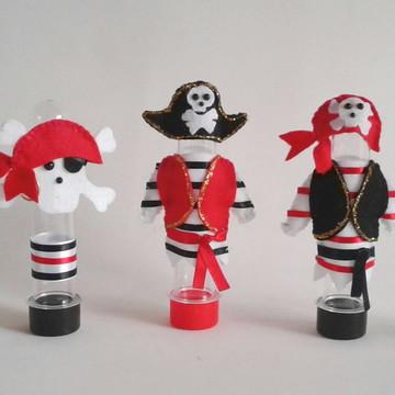 Tubete Pirata, Navio, Caveira e Baú em feltro