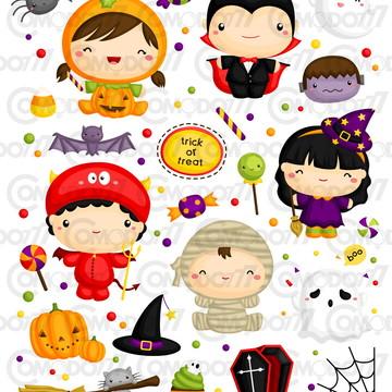 Kit Digital Comodo Halloween Fantasias Dia Das Bruxas 10
